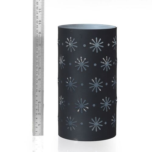 (Option 3) Metal Candle Holder with Flower Cut Work