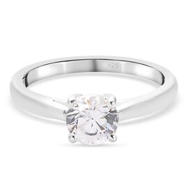 J Francis Sterling Silver Ring Made with SWAROVSKI ZIRCONIA 1.50 Ct
