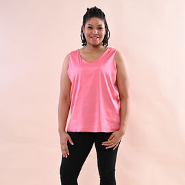 JOVIE Solid Colour Satin Vest (Size up to 18; 56x68cm) - Pink