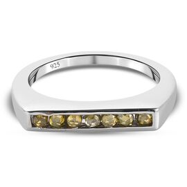 Yellow Diamond Ring in Platinum Overlay Sterling Silver 0.250 Ct.