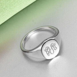 Personalise Monogram Ring in Silver