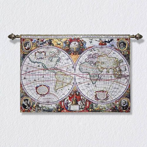 Signare Tapestry - 100% Cotton Wall Hanging - Map