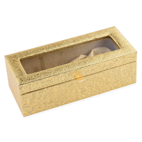 Gold Plated Eternal Rose (Size 15 Cm) in Golden Box (Size 23x8 Cm)