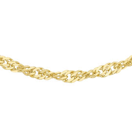 9K Yellow Gold Twisted Curb Chain (Size 24), Gold wt 1.20 Gms