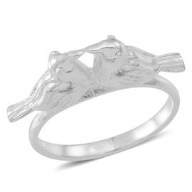 Sterling Silver Love Bird Ring, Silver wt 5.01 Gms.