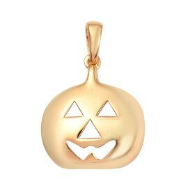 14K Gold Overlay Sterling Silver Devil Pumpkin Pendant, Silver wt 3.69 Gms