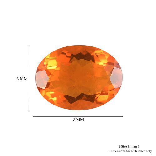 AAA Fire Opal Oval 8x6 Faceted 0.60 Cts