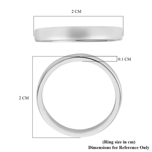 RHAPSODY 4mm Plain Wedding Band Ring in Supreme Finish 950 Platinum