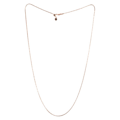 Rose Gold Overlay Sterling Silver Adjustable Diamond Cut Snake Chain (Size 24)
