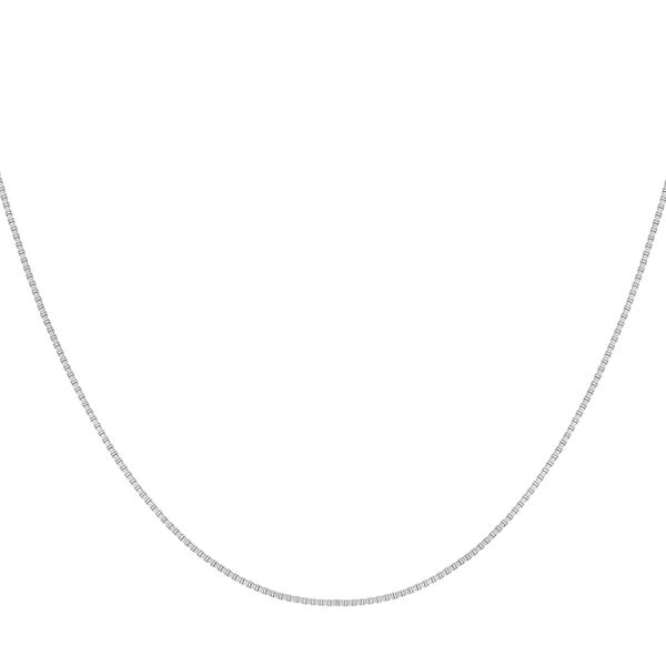 Sterling Silver Box Chain (Size 15) with Spring Ring Clasp