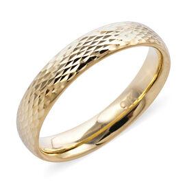 Royal Bali Collection - 9K Yellow Gold Diamond Cut Band Ring, Gold wt 1.10 Gms