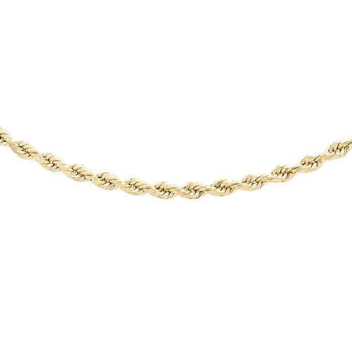 Hatton Garden Close Out Deal- 9K Yellow Gold Rope Necklace(Size 20)