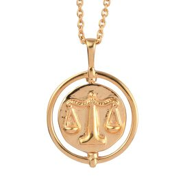 Sundays Child 14K Gold Overlay Sterling Silver Pendant with Chain (Size 18), Silver Wt. 5.50 Gms
