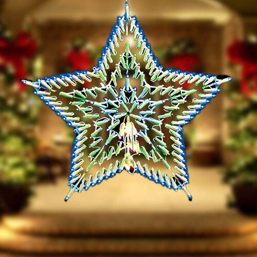 Blue & White LED Star Silhouette