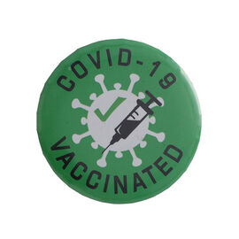 Vaccinated Batch in Green (Size- 4.5 CM)
