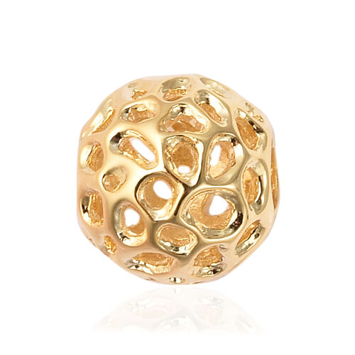 RACHEL GALLEY Globe Charm or Pendant in Gold Plated Sterling Silver