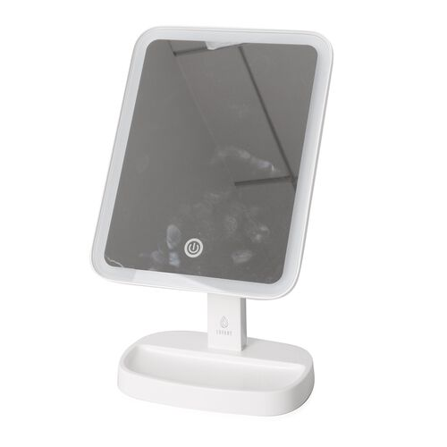 White Colour LED Illuminated Cosmetic Mirror with 10x Magnification Vanity Mirror (Size 32x18 Cm)