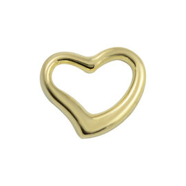 Hatton Garden One Time Deal- 9K Yellow Gold Open Heart Pendant