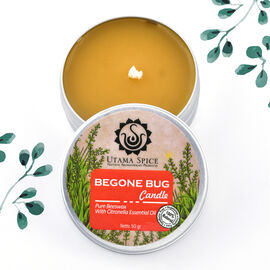Utama Spice - Pure Beeswax Begone Bug Candle with Citronella Essential Oil