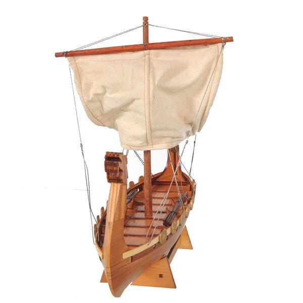 Decorative Wooden Drakkar Viking Long Boat Model  (Size 30x8.5x25cm)