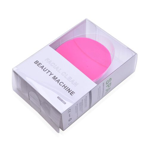 Silicone Pink Colour Face Cleansing Brush (Size 10.2X8.1X3.4 Cm)