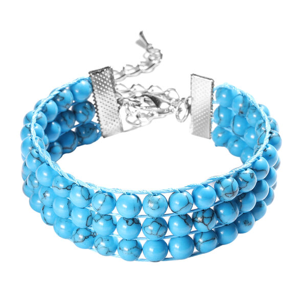 Blue Howlite Bracelet (Size 7 with 2 inch Extender) 108.00 Ct.