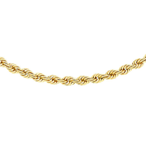 Hatton Garden Close Out 9K Y Gold Rope Necklace (Size 22), Gold wt 3.10 Gms.
