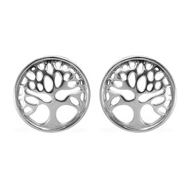 RHAPSODY 950 Platinum Tree of Life Earrings (with Screw Back)