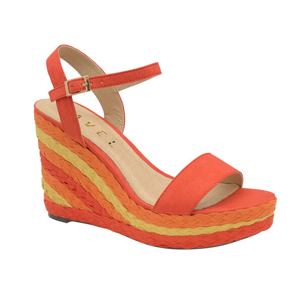 Ravel Dixie Wedge Open-Toe Sandals (Size 6) - Red