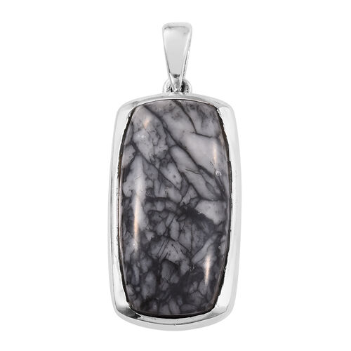 Austrian Pinolith (Cush) Pendant in Platinum Overlay Sterling Silver 10.750 Ct.
