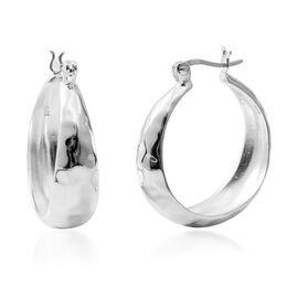 Sterling Silver Hoop Earrings (with Clasp), Silver wt 11.47 Gms.