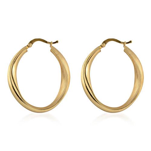 9K Yellow Gold Hoop Earrings, Gold wt 4.00 Gms