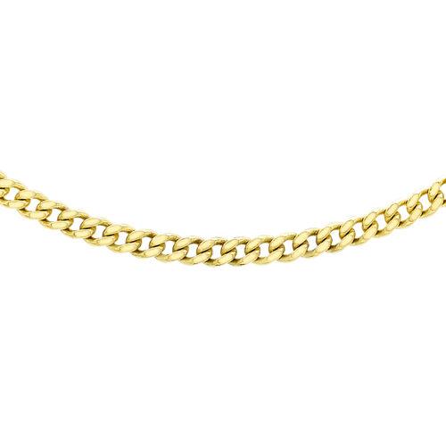 JCK Vegas Collection 9K Yellow Gold Gourmette Necklace (Size 24), Gold wt. 11.30 Gms.