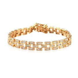 Diamond (Bgt) Bracelet (Size 7.5) in 14K Gold Overlay Sterling Silver   2.00 Ct, Silver wt 16.00 Gms