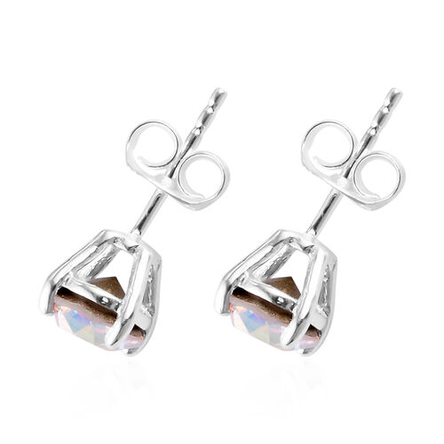 3 Piece Set - J Francis Crystal from Swarovski AB Crystal Solitaire Ring, Pendant and Earrings in Sterling Silver