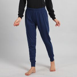 100% Cotton Single Jersey Loungewear Leggings in Blue