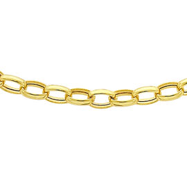 9K Yellow Gold Oval Belcher Chain (Size 30), Gold wt 3.50 Gms