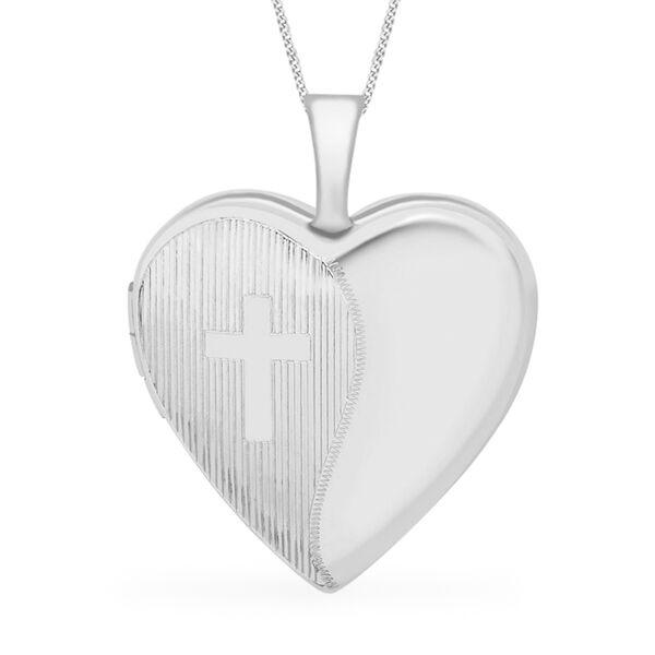 Heart Locket Pendant in 9K White Gold