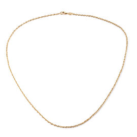 Super Auction - Royal Bali Collection 9K Yellow Gold Prince Of Wales Necklace (Size 20), Gold wt 1.56 Gms.