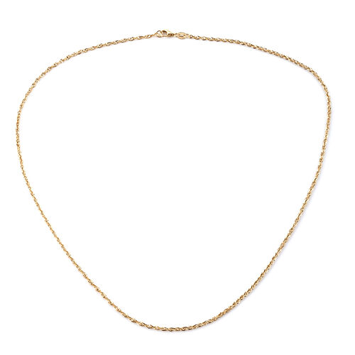 Royal Bali Collection 9K Yellow Gold Prince Of Wales Necklace (Size 20), Gold wt 1.56 Gms.