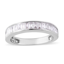 RHAPSODY 950 Platinum IGI Certified Diamond (Bgt) (E-F/VS) Half Eternity Band Ring 1.00 Ct.