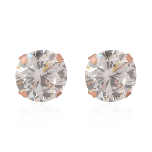NY Close Out Deal - 14K Rose Gold Cubic Zirconia Earrings