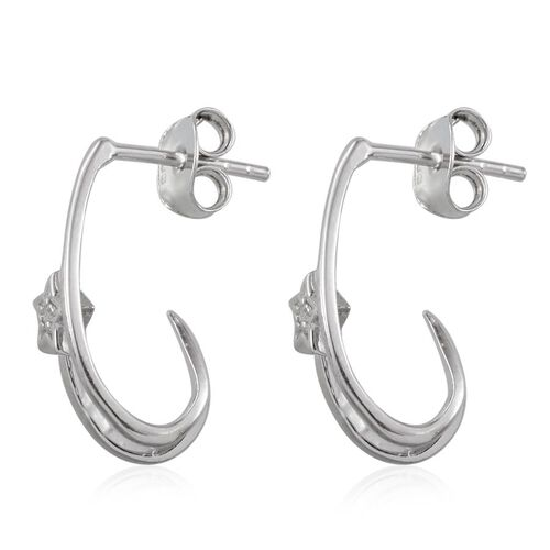 Diamond (Rnd) Earrings in Platinum Overlay Sterling Silver