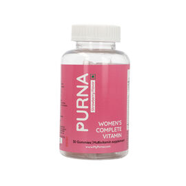 PURNA: Complete Beauty Multivitamin 30 Gummies for Adults & Kids - Strawberry