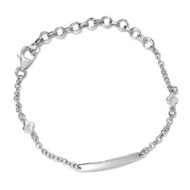 Platinum Overlay Sterling Silver Bracelet (Size 5.5 with 2 inch Extender)