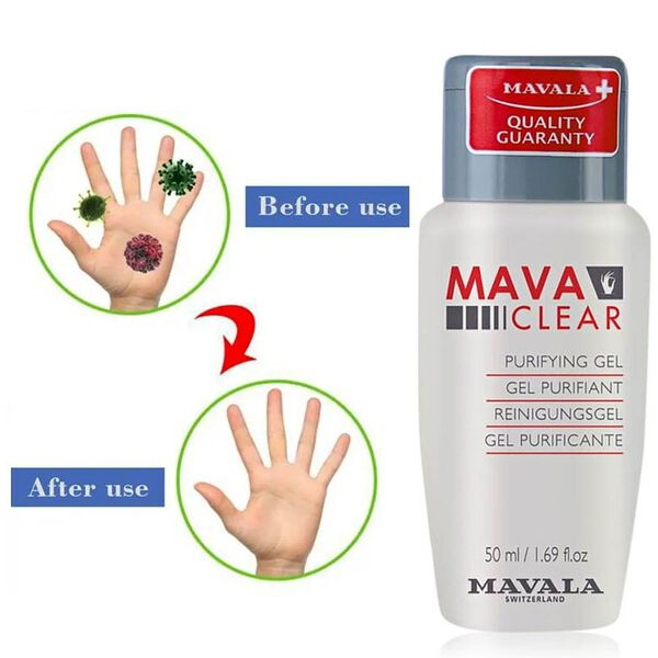 Mavala: Active Hand Sanitiser Gel 64% Alcohol- 50ml
