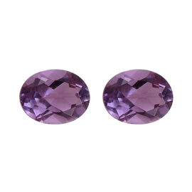 Set of 2 - Pink Amethyst  Oval 5x4mm  0.66 Ct.