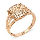 Royal Bali Collection 9K Yellow Gold Diamond Cut Pebble Checker Pattern Ring (Size N) Gold wt 2.30 Gms.