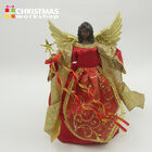 30cm Red and Gold Angel with Feathered Wings