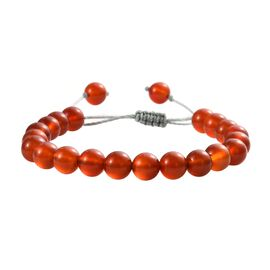 Red Onyx Bracelet (Size 6.5-9.5 Adjustable) with Thread Shambhala Lock 70.65 Ct.